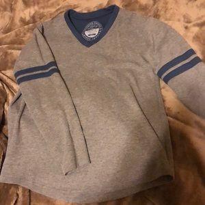 Gray & navy Lauren James jersey shirt. Size small